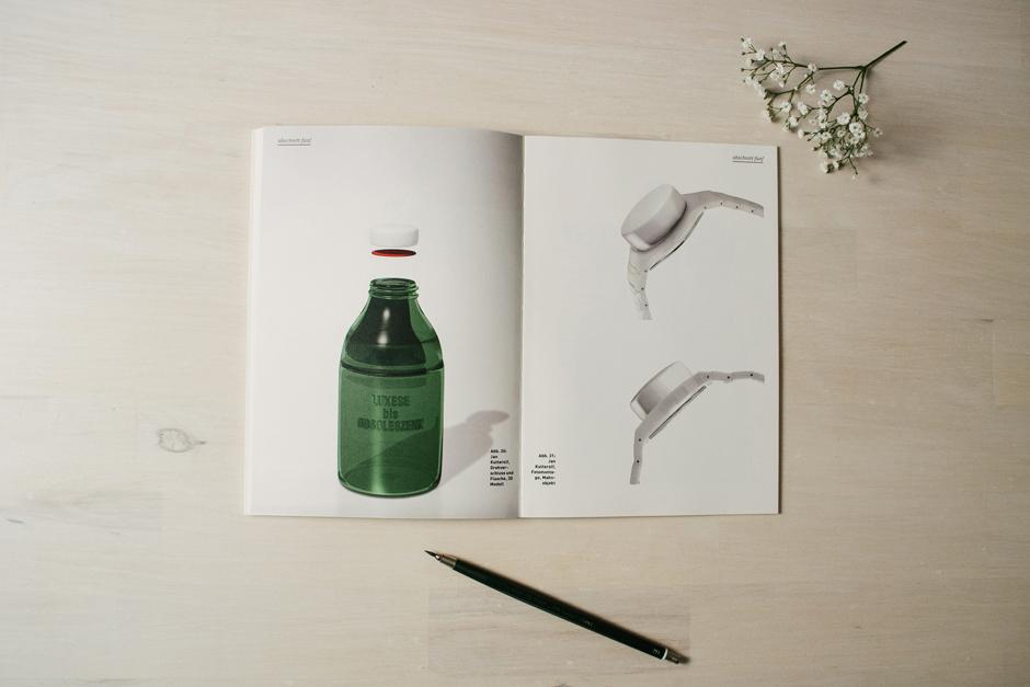 Luxese bis Obsoleszenz - Flasche und Verschluss